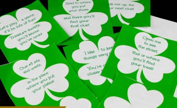St. Patrick's Day Treasure Hunt Clues Free Printable