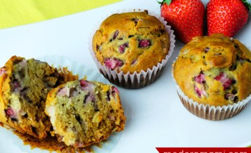 Perfect for Spring Mornings: Strawberry Orange Muffins {Recipe}
