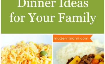 What's for Dinner? Sample 7-Day Meal Plan for Your Family