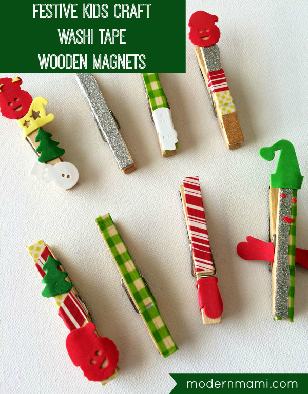 Simple Easy Christmas Crafts For Kids Washi Tape Wooden