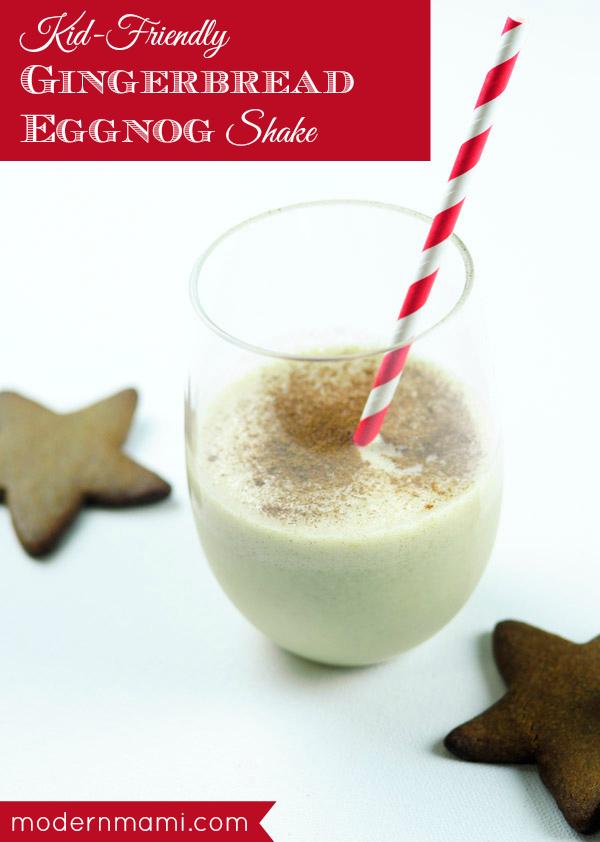 Kid-Friendly Holiday Drink: Gingerbread Eggnog Shake