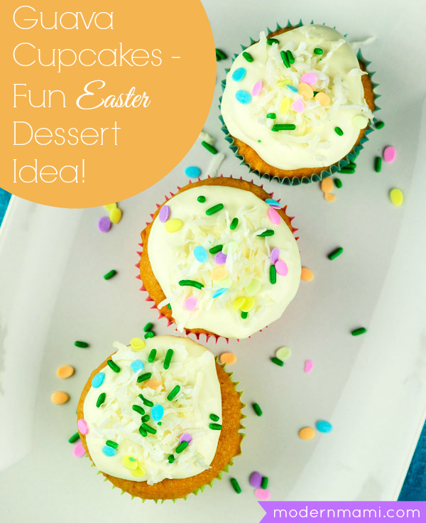 Guava Cupcakes with Cream Cheese Frosting