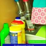 Bathroom Cabinet Hack: Create Space Under Your Bathroom Sink! {Spring Cleaning}