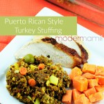 Puerto Rican Style Turkey Stuffing for Thanksgiving {Recipe}