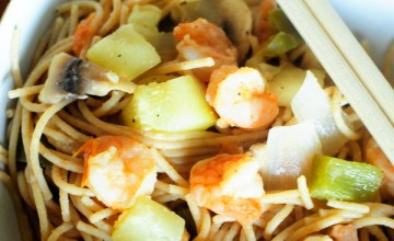 Simple Lenten Recipes: Shrimp & Vegetable Noodles
