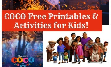 Disney Pixar's Coco Free Printables & Activities for Kids!
