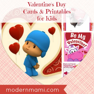 Free Valentine's Day Cards and Printables for Kids