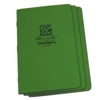 Rite in the Rain 971FX : Stapled Notebook (Universal/Green)