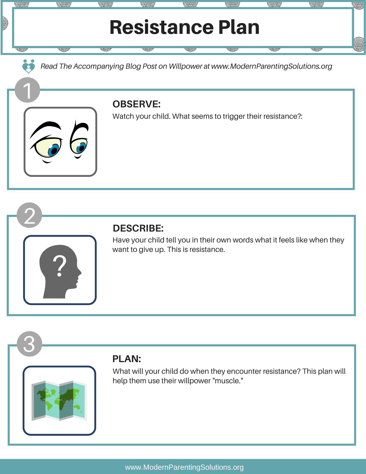 Resistance Plan Worksheet