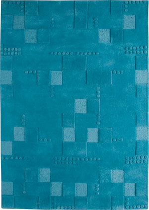 Modern Loom Blue Hilo Solid Color Rug From The Textured Rugs Collection At Modern Area Rugs