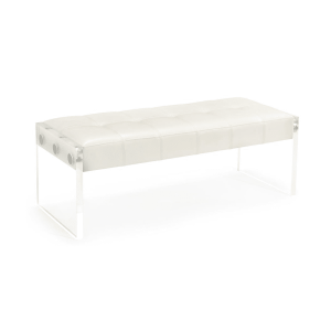 benches and ottomans clarice white bench