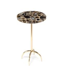 living room agate side table brass