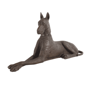 accessories great dane bronze right sculpture