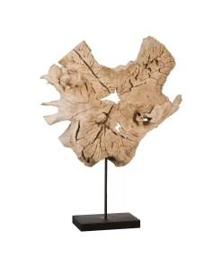 accessories teak sculpture 30-inch