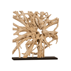 accessories teak sculpture 60-inch