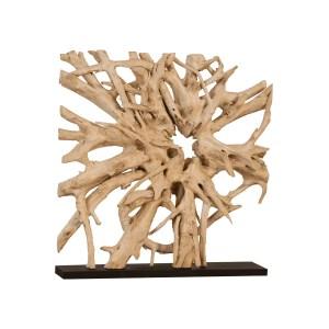 accessories teak sculpture 60-inch