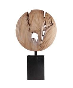 accessories wooden moon sculpture