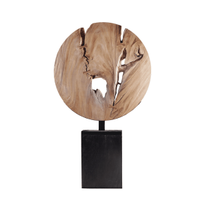 accessories wooden moon sculpture