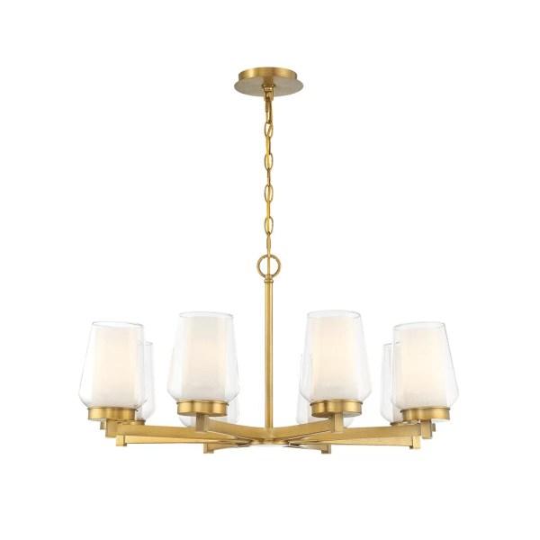 lighting Manchester 30-inch chandelier brass
