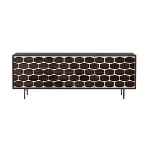 living room honey sideboard