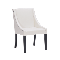 lucille dining chair in ivory