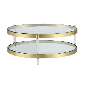 living room york coffee table in brass