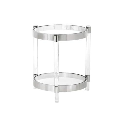 living room york side table stainless steel