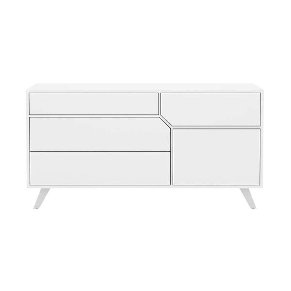 bedroom rivington dresser glossy white