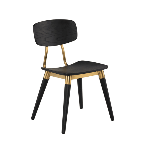 dining room scholar chair black oak and gold