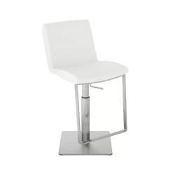 lewis hydraulic stool white naugahyde