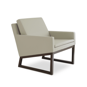 living room nova armchair wood light grey leatherette