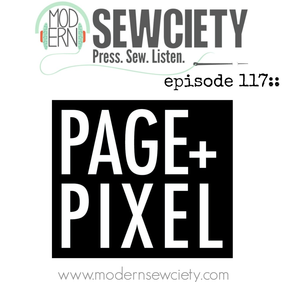 page + pixel podcast art