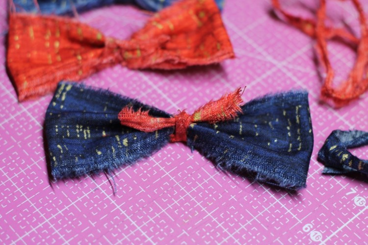 bow with fabric