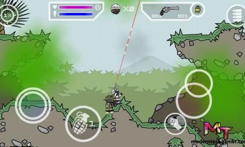 %mini militia gameplay screen shot