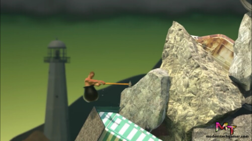 fourth screen shot of playing getting over it apk game