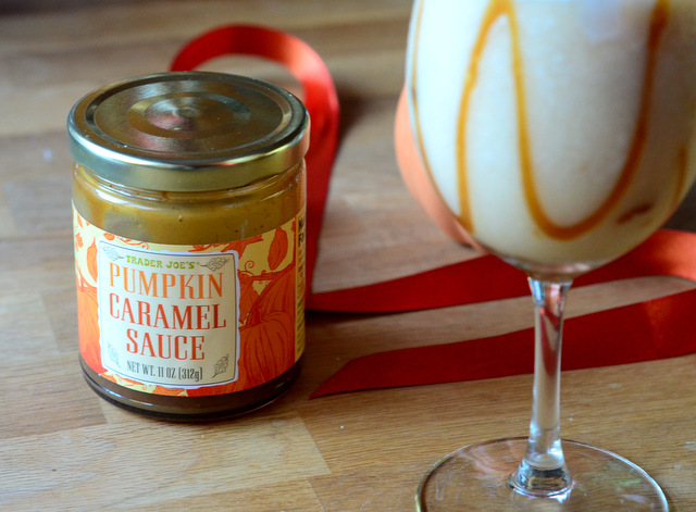 Trader Joe's Pumpkin Caramel Sauce, for making Pumpkin Spice Piña Colada