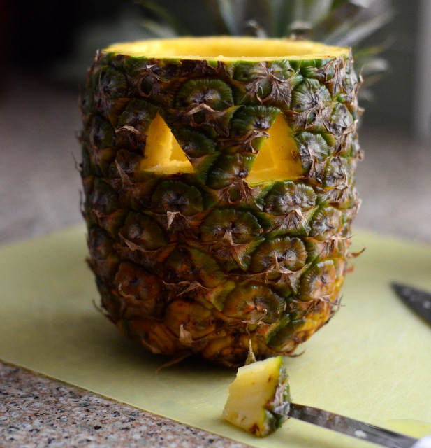 How to Carve a Pineapple Jack o' Lantern at Home