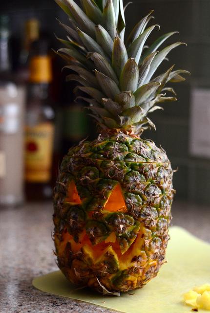 How to Make a Pineapple Jack o' Lantern