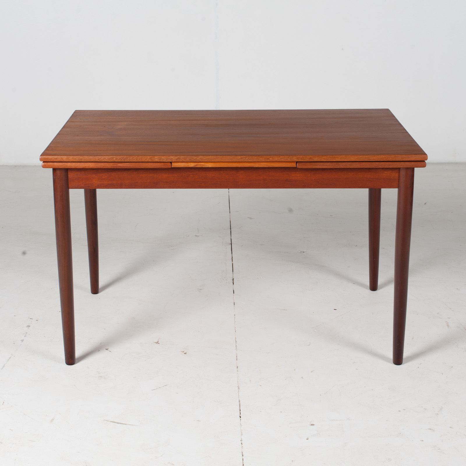 Extendable Rectangular Dining Table In Teak With Solid Edge 1960s Denmark Modern Times