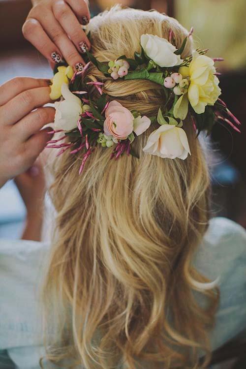 wedding hair flower ideas 3