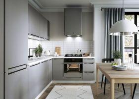 L Form Küche, Schränke, Küchenzeile erweiterbar Ferro ...
