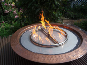 Fire Burner Accessories For Fire Pit Tables With Fireglass With Propane Or Natural Gas Fire Pit
