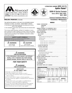 atwood 8500IV Series Furnace (8516, 8520, 8525, 8531, 8535) Manuel d'utilisation | Pages: 7