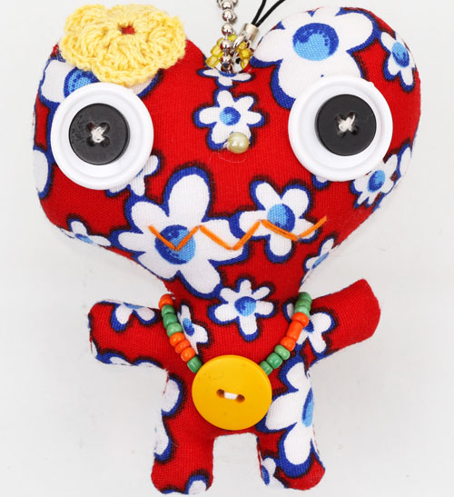 Flower Heart Monster Doll