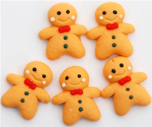 gingerbread man clay
