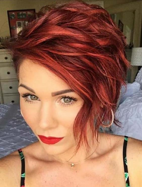 52 Trendy Short Red Haircuts Amp Hairstyles For 2018 Modeshack