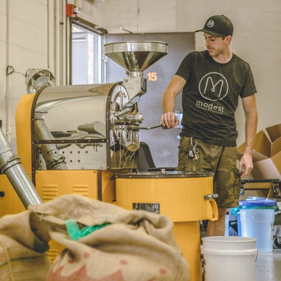 Marcus coffee roasting for the Good Food Awards