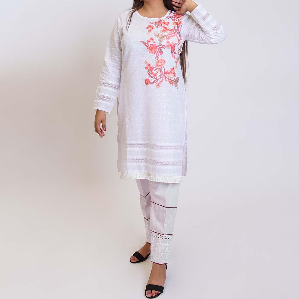women kurti white