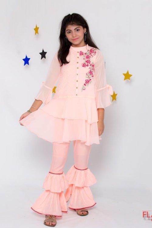Girls Gharara Style Dress