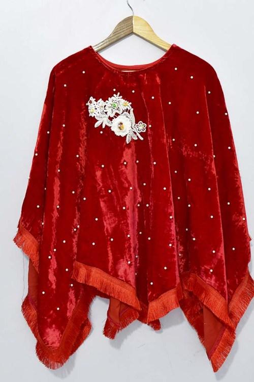 Winters red velvet dress